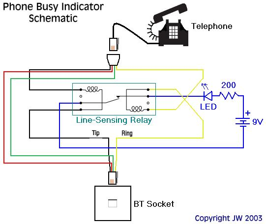 Wiring diagram for telephone line free download wiring diagram neolics electronics phone busy schematic note that one of the wires will need to be connected across the relay in the opposite direction to the other wire asfbconference2016 Choice Image